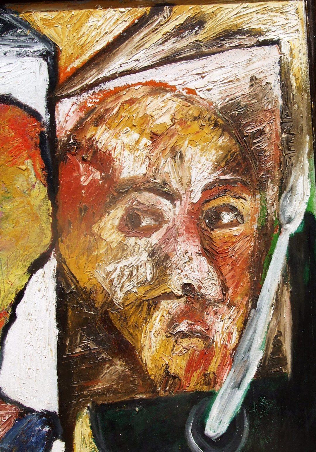 דיוקן סזאן ב'היצירה' - נורית צדרבוים 1982