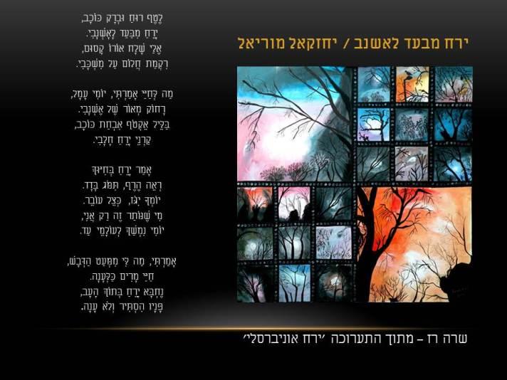 שרה רז – ירח אוניברסלי / יחזקאל מוריאל – ירח מבעד לאשנב