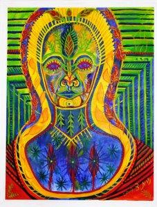 אמא גדולה עתיקה - מסדרת דיוקן עצמי - נורית צדרבוים 2006