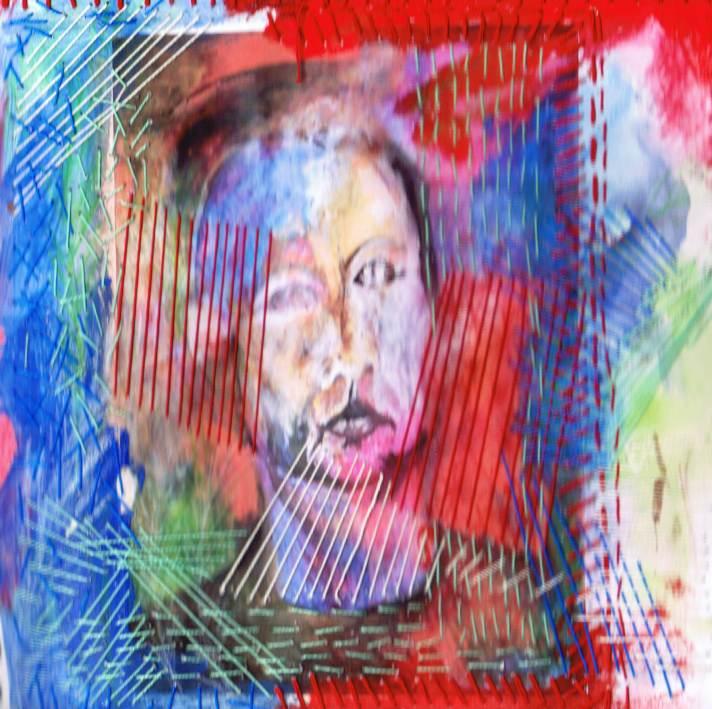 מירקם של דיוקן - מתוך סדרת דיוקן עצמי ( ריקמה אנושית) - נורית צדרבוים 2011