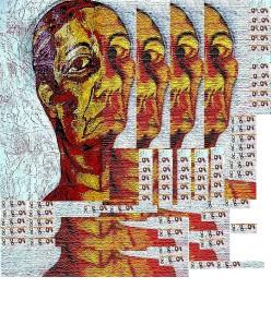דיוקן עצמי - בתהליכי פירוק והרכבה - נורית צדרבוים - 2004
