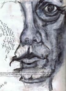 איור 6 : דיוקן עצמי - שפתיים חתומות - נורית צדרבוים 2003