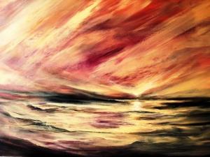 אריה רובינוביץ - קסמו של הטבע - 3 - אקריליק על בד